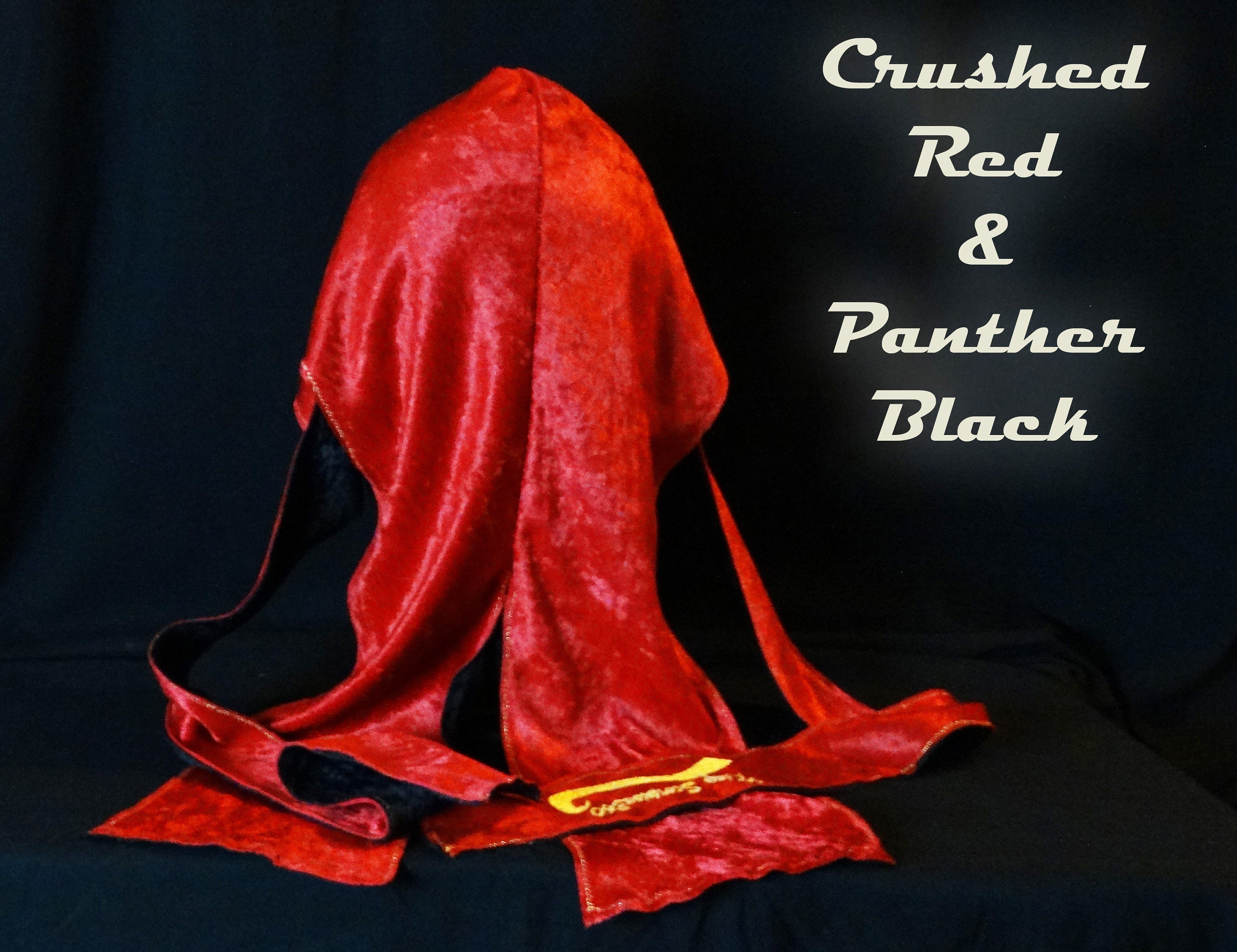 King Scorpion 360 Red & Black Velvet Du-Rag