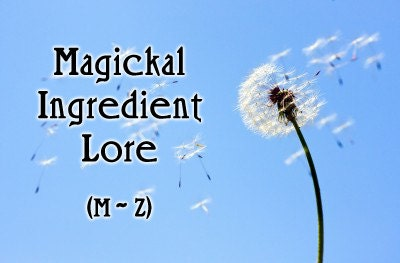 Magickal Ingredient Lore (M-Z)