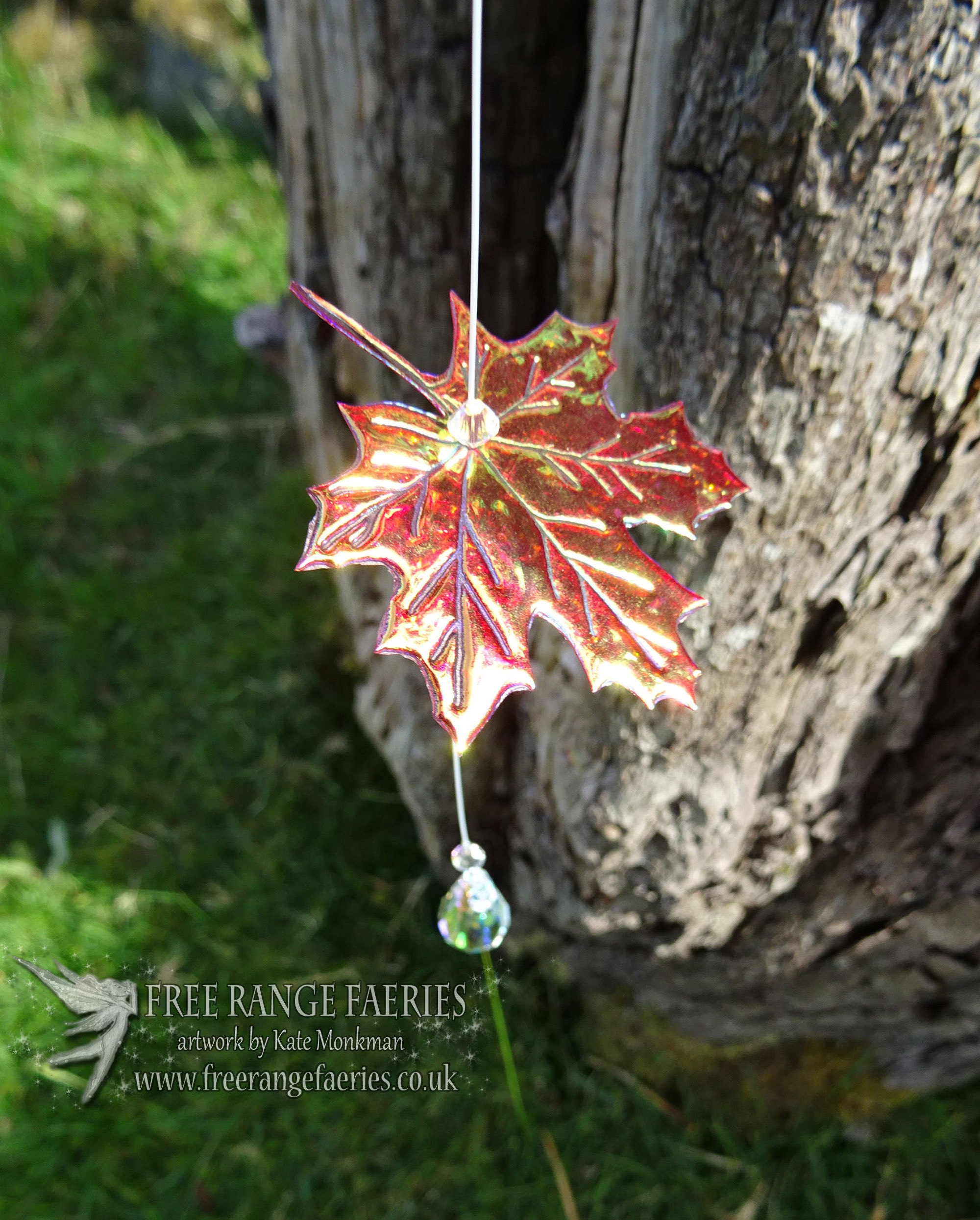 Maple leaf Love suncatcher