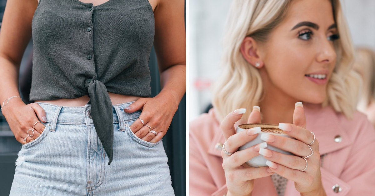 Let your hands steal the spotlight with our stacking rings
