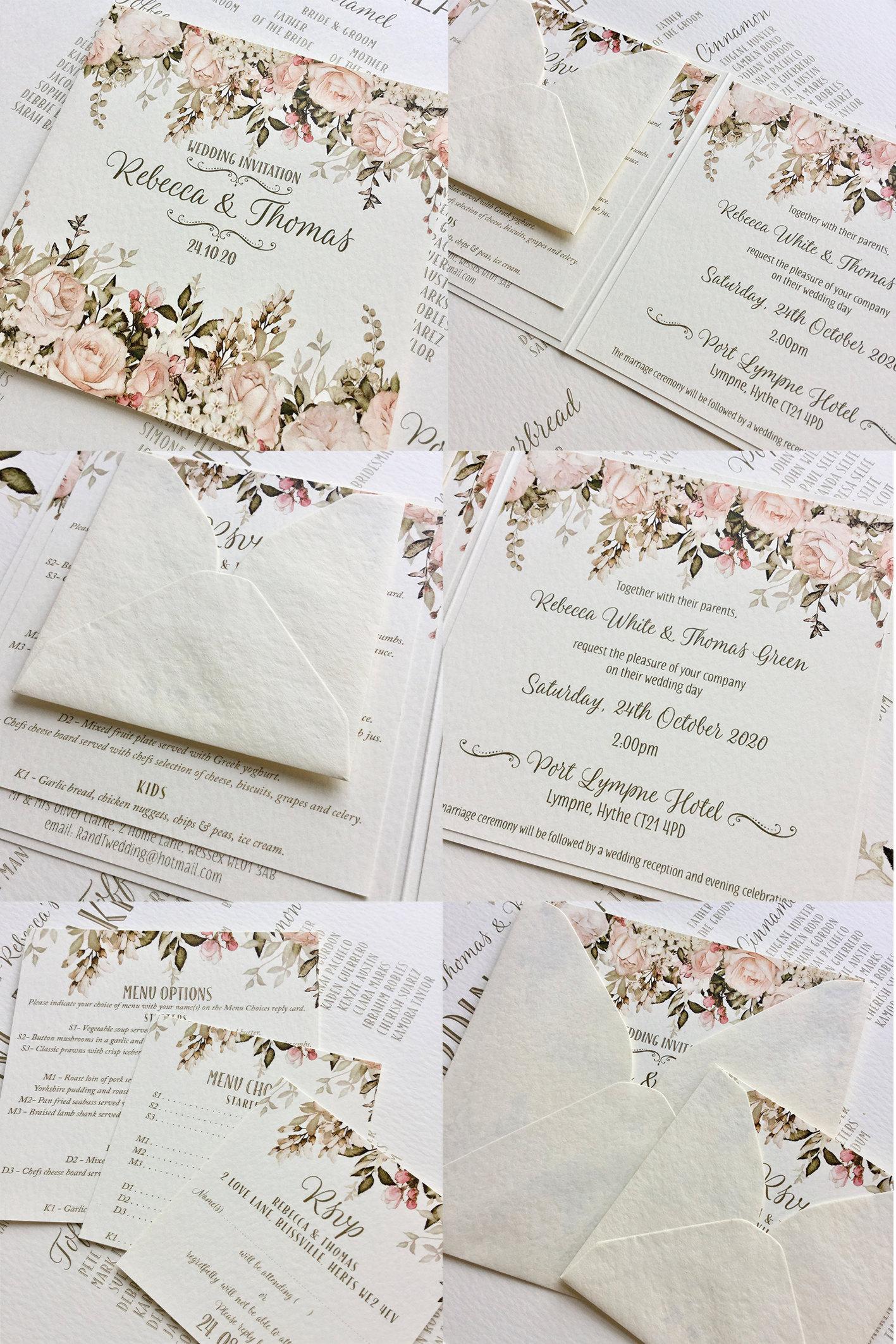 inkipinki-weddings, Hayne House, Emma Invitation