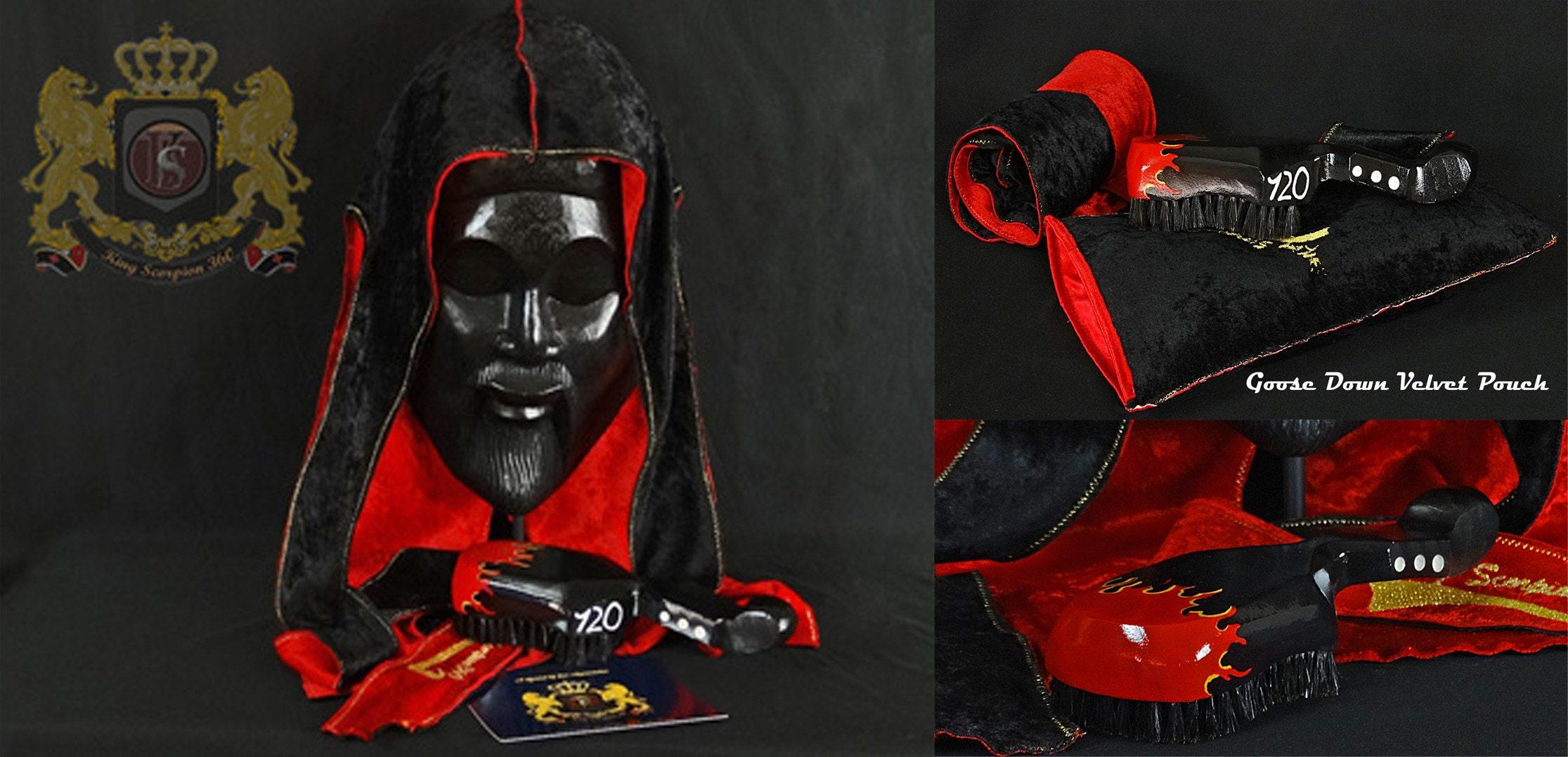 Panther Black / Crushed Red Reversible velvet Du-Rag