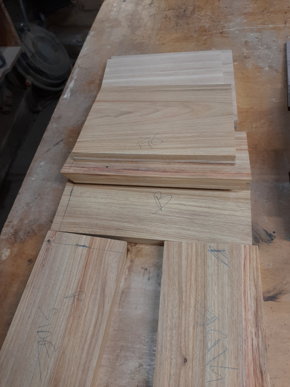 Canary Wood Locking box parts