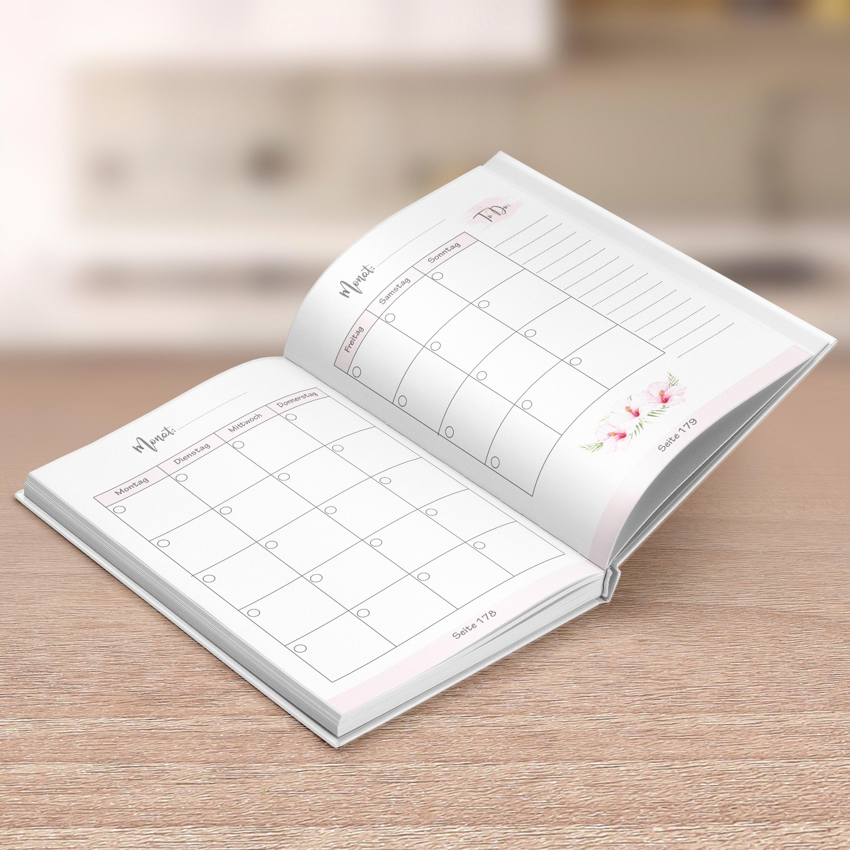 12 Monate im Voraus planen ist dem Monatsplaner kein Problem!