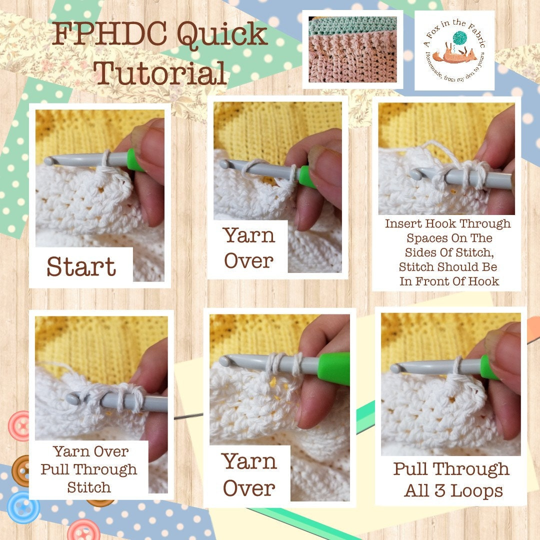 Front Post Half Double Crochet Tutorial