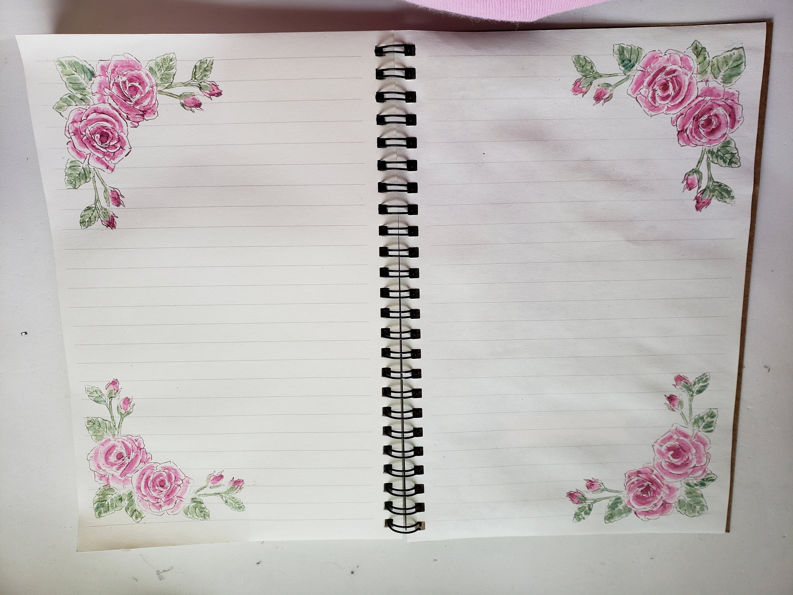 Rose Corner double page spread