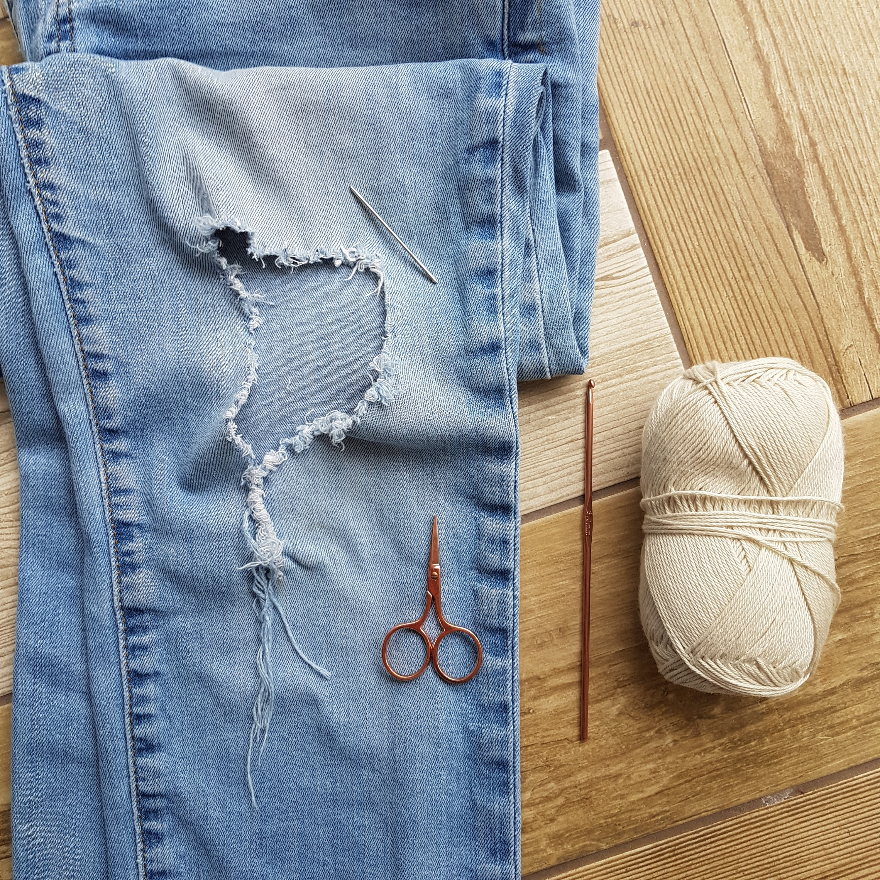 Crochet Ripped Jeans Patch Tutorial With Pictures