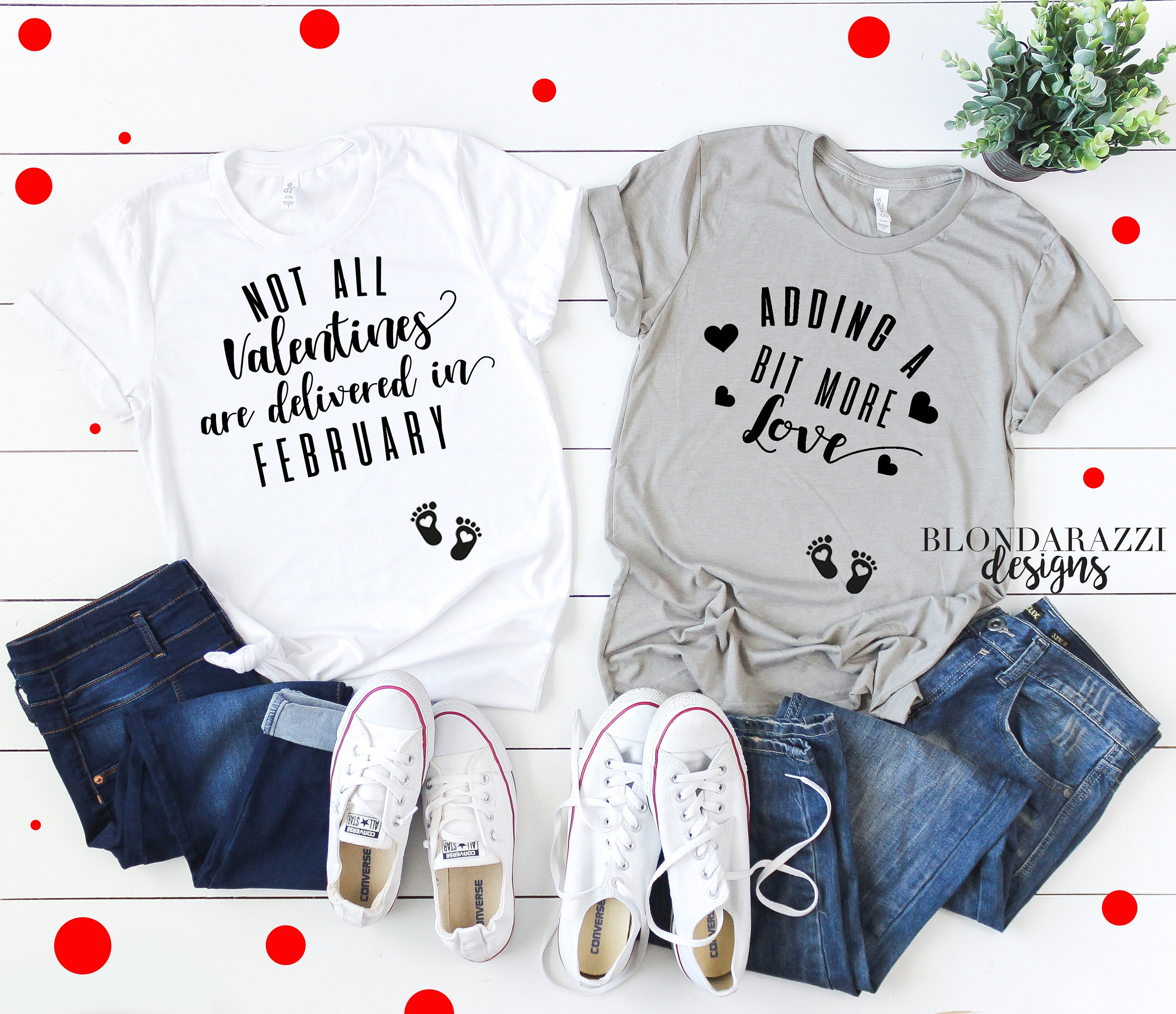 Not all valentines are delivered in february valentines day baby pregnancy announcement shirts