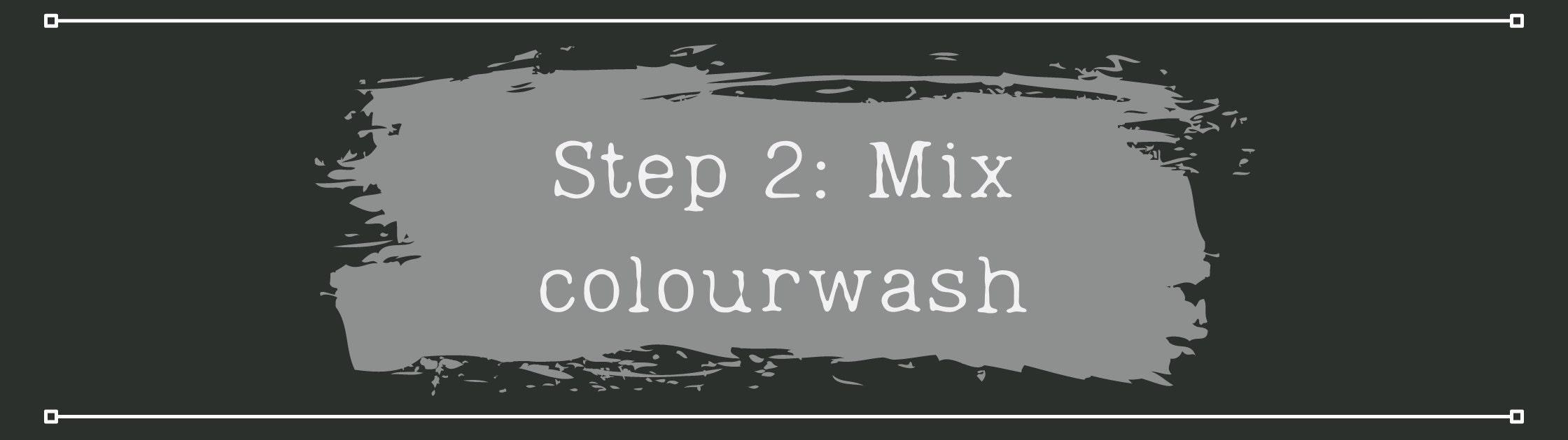 Mixing a colourwash