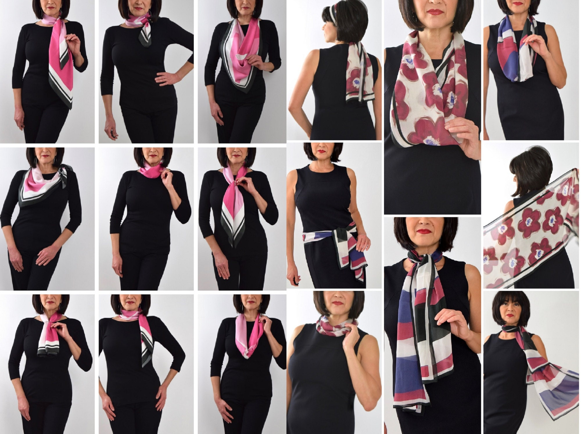 Ways to wear your scarf