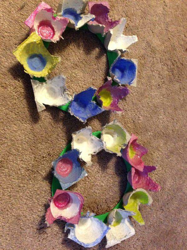 Easter spring flower wreath kids craft