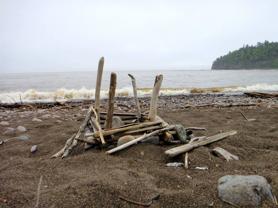 Driftwood at one of my favorite beaches on Lake Superior