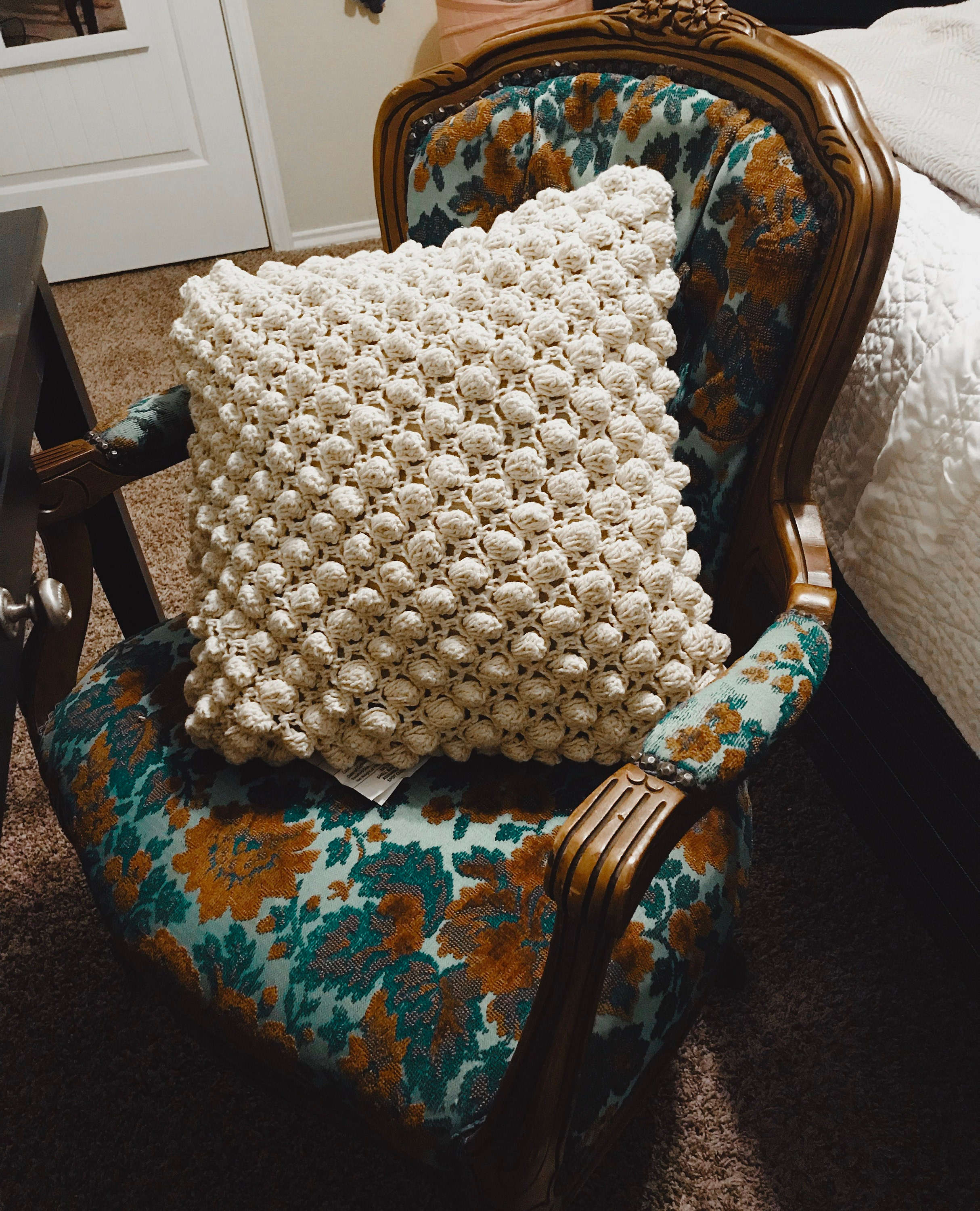 Vintage chair and pillow was 10 dollar
