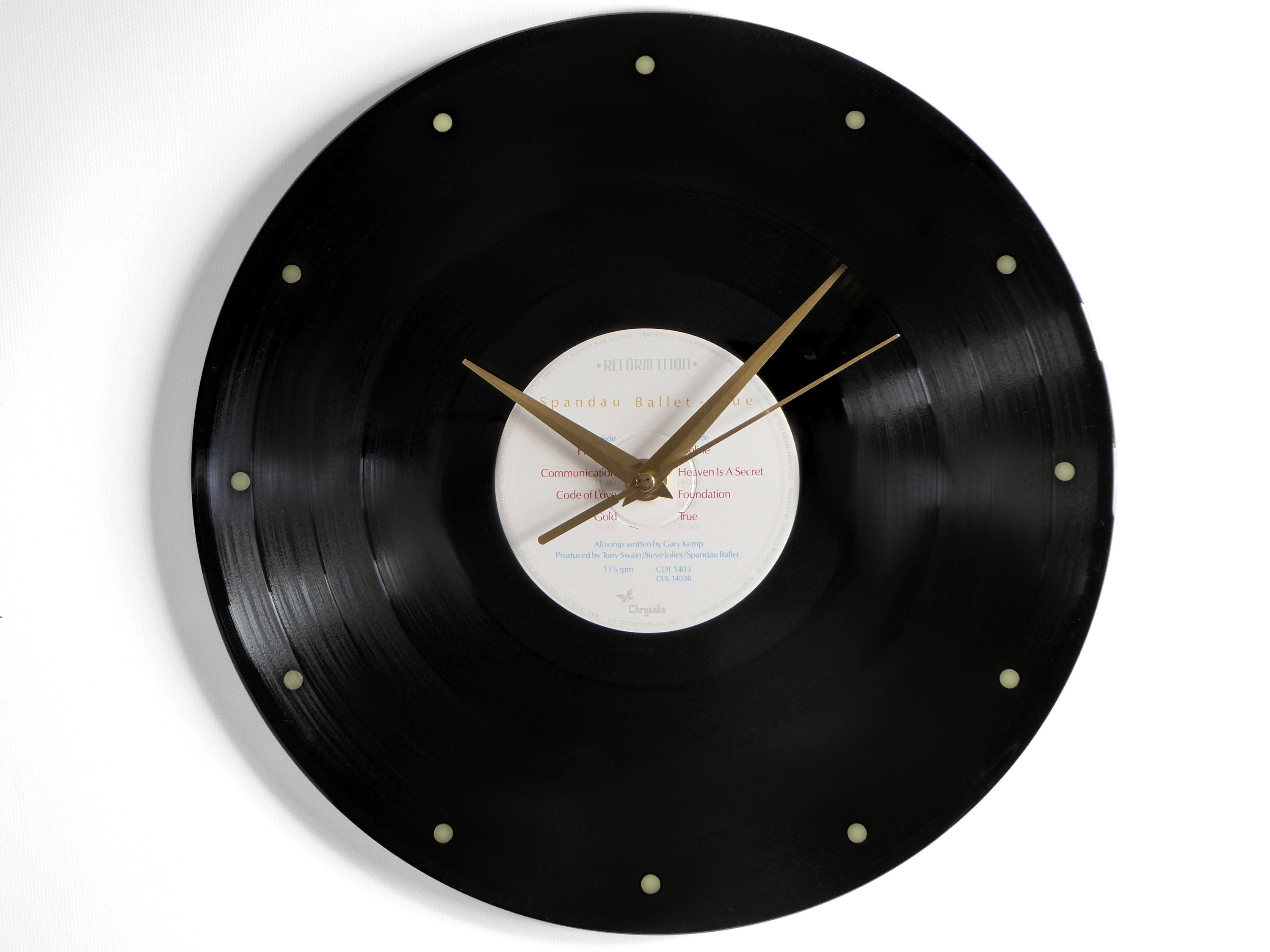 Spandau Ballet True Vinyl Record Wall Clock