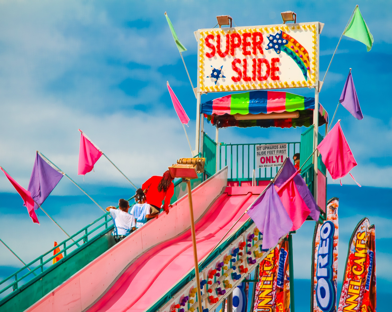 Fun slide at the carnival