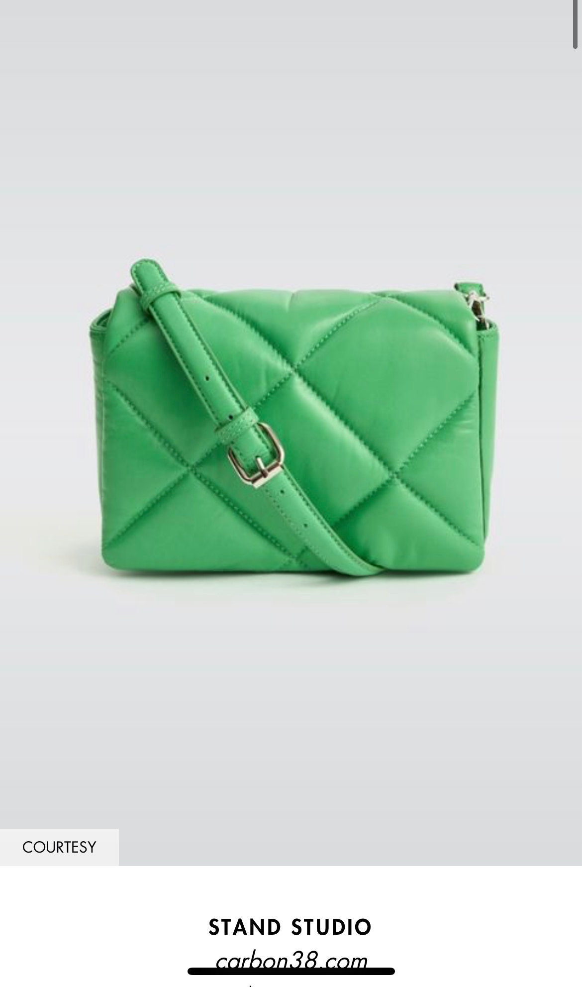 Quilted Green Purse