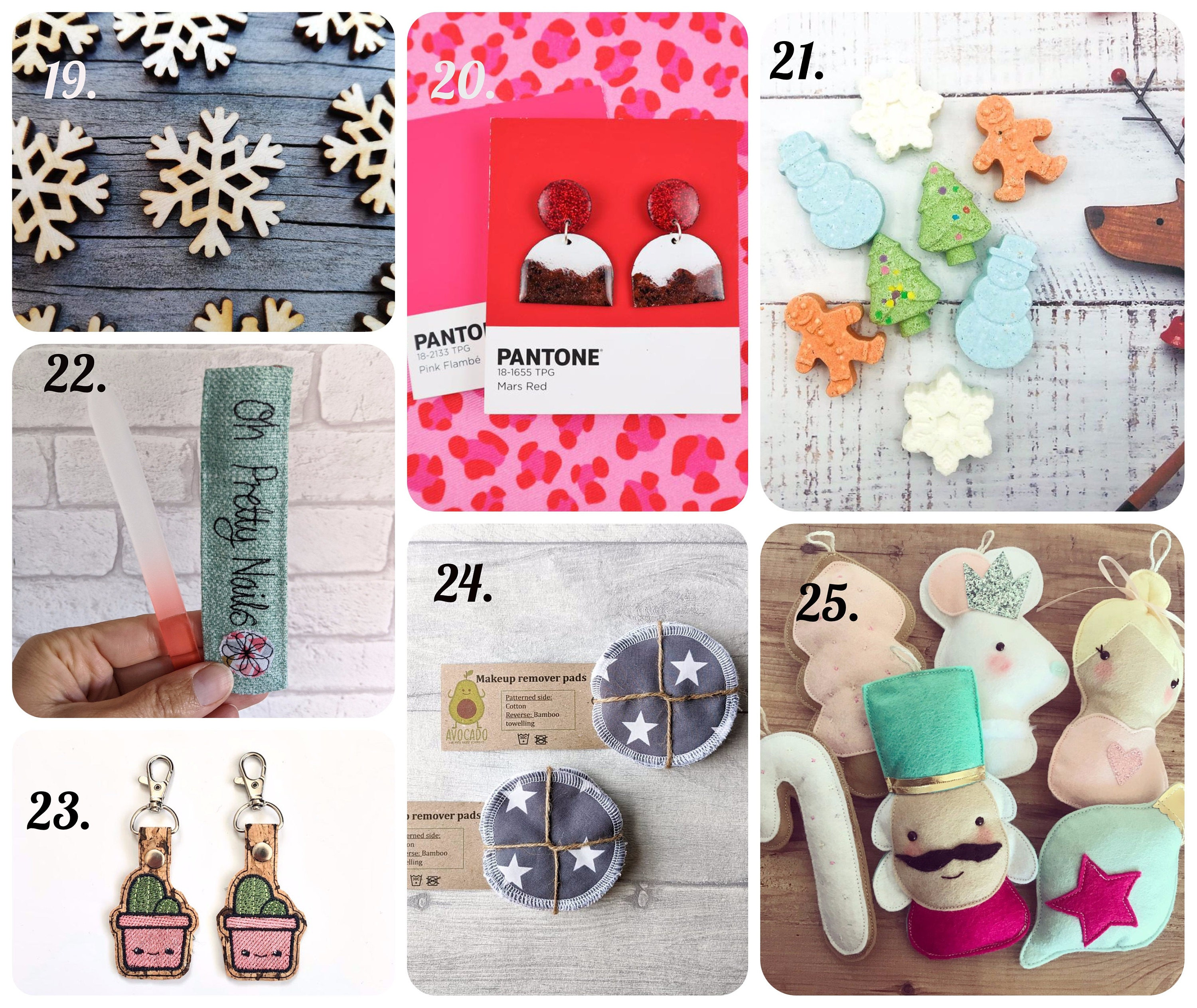 handmade christmas advent pocket stocking fillers