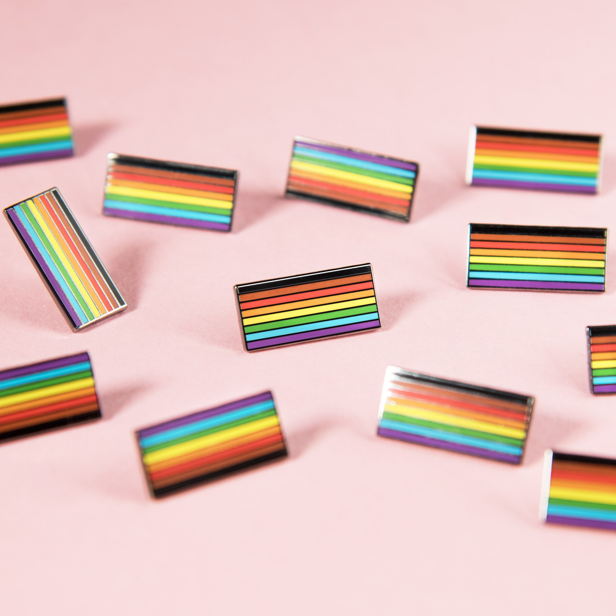 New Inclusive Rainbow Flag Pin Badge