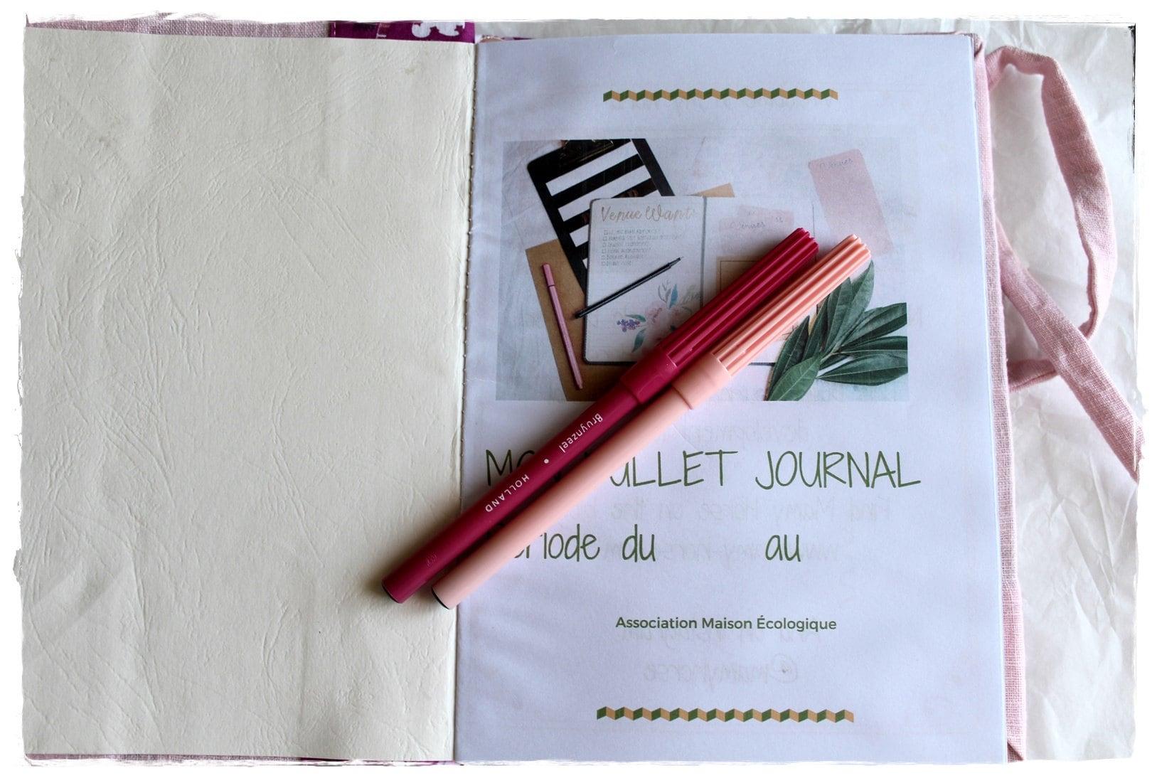 bullet journal artisanal, bujo, bujo addict, carnet créatif, planner