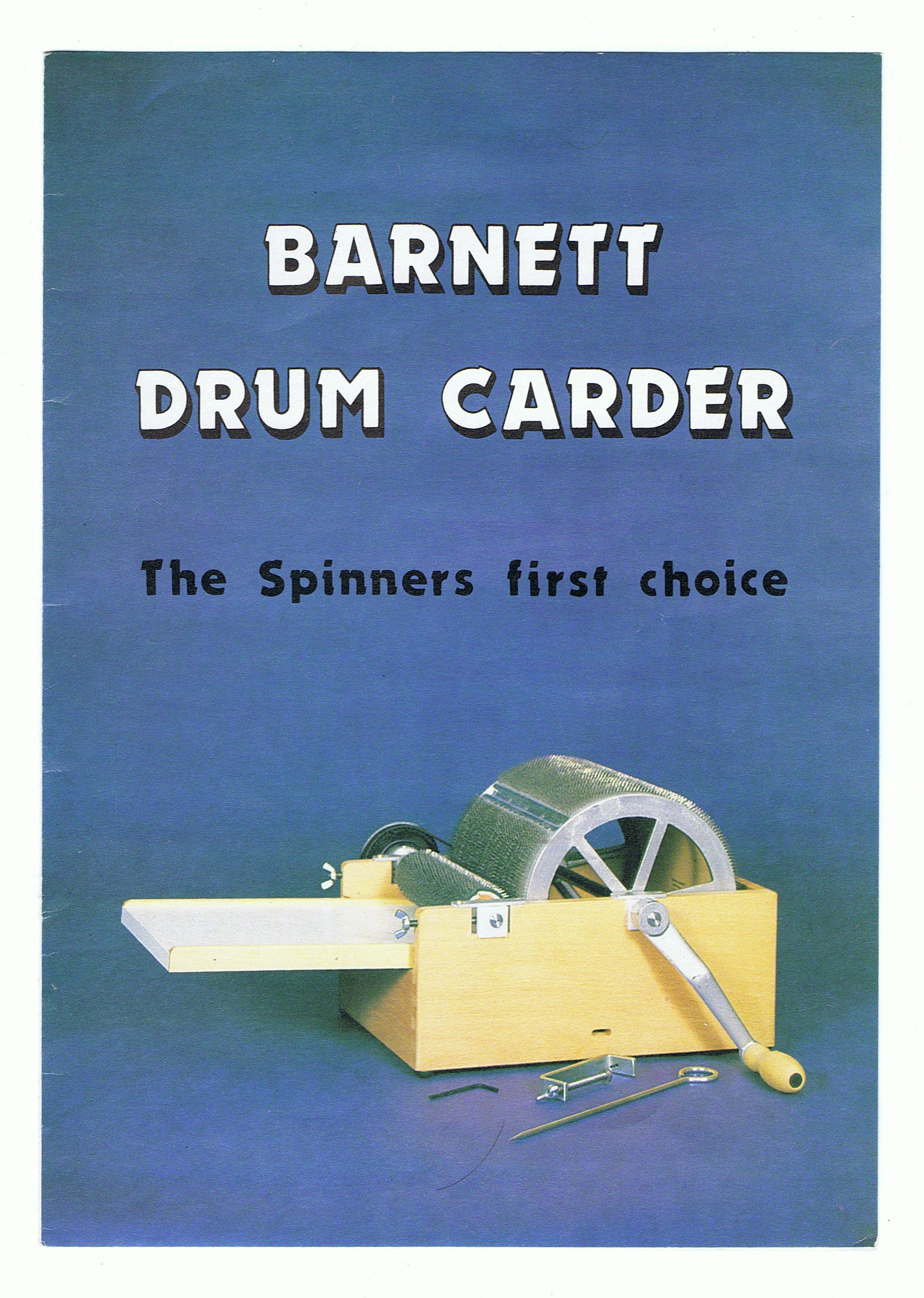 Drum carder front page
