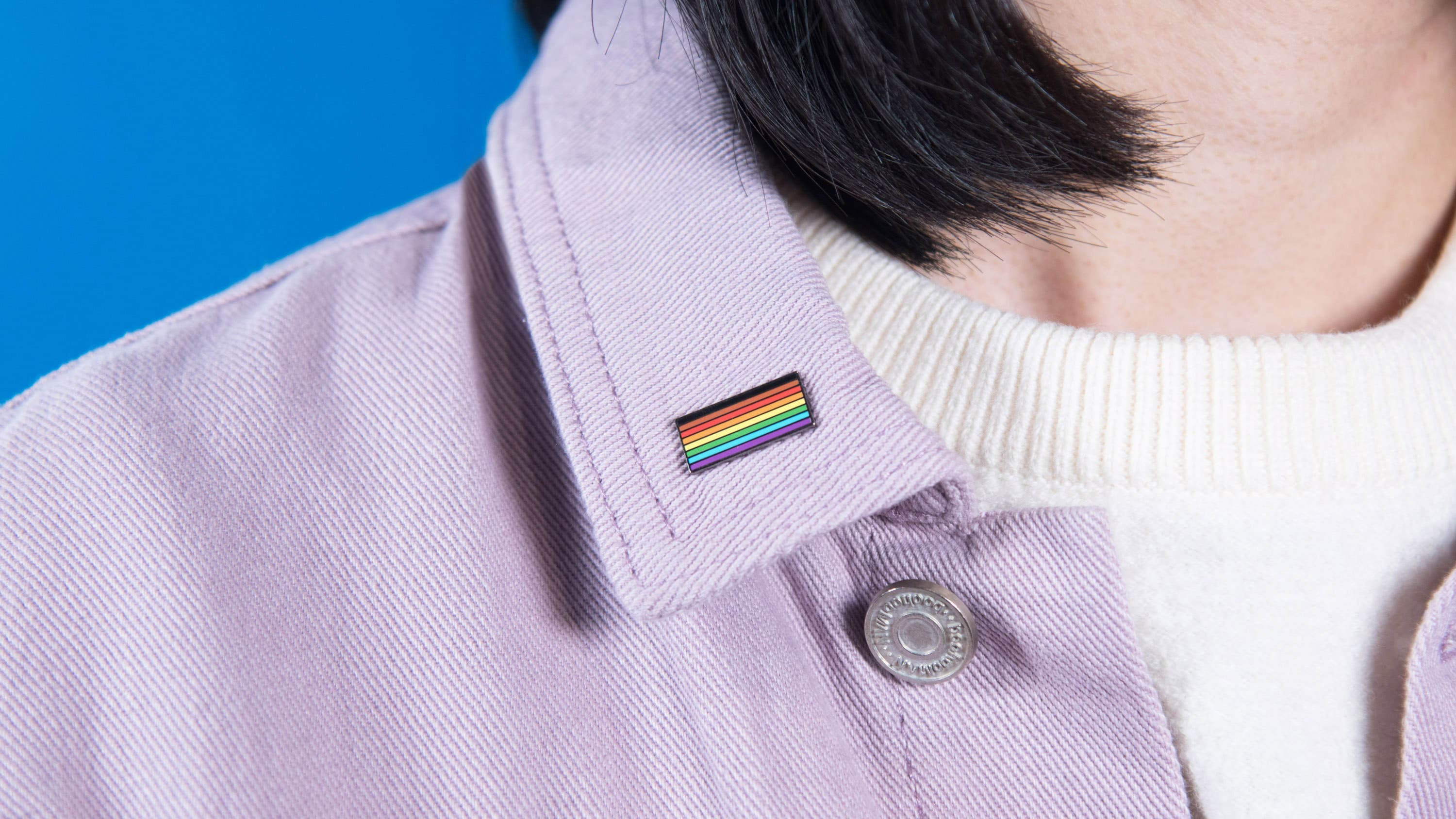 Inclusive Gay Rainbow Flag Enamel Pin Collar Lapel Badge