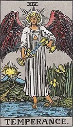 Temperance card from the Rider Waite deck