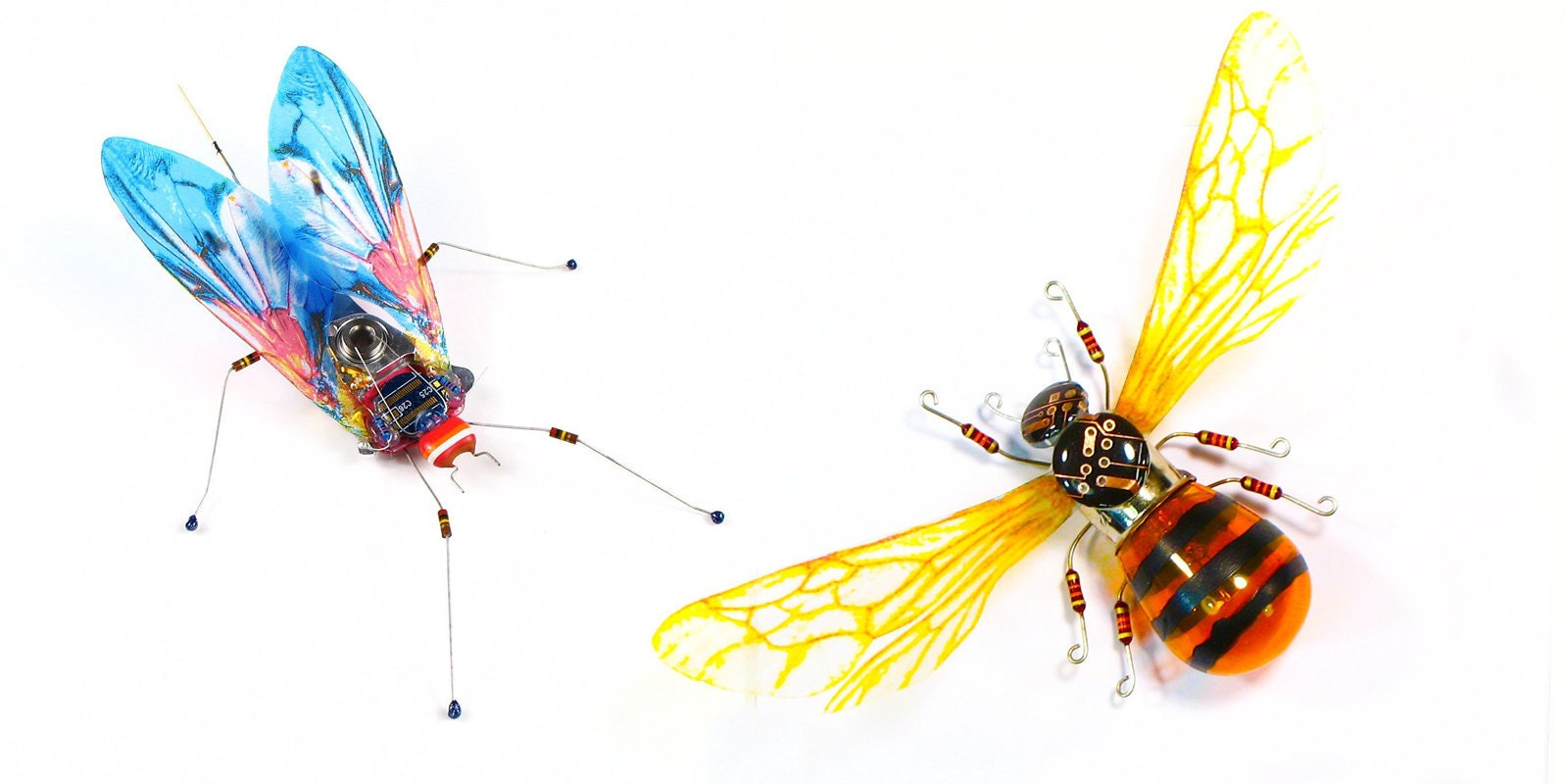 Electrickery fly and bee