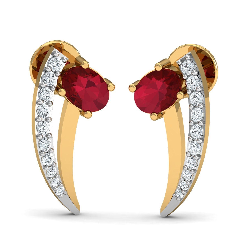 Diamond Ruby Earrings by Gem Select Crafts