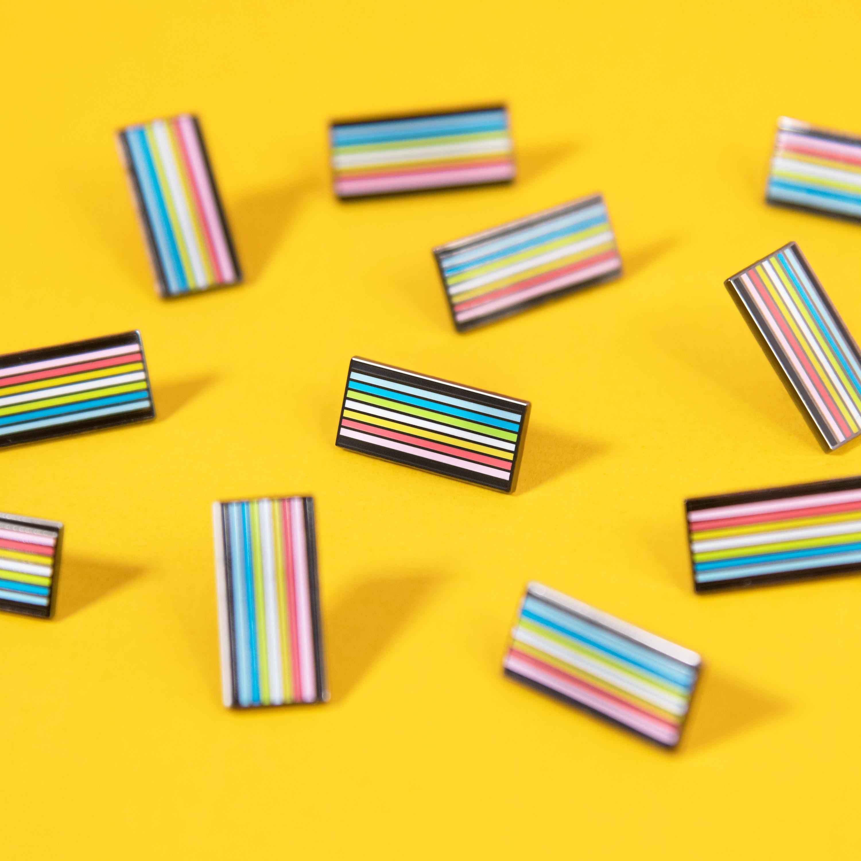 LGBT Official Queer Pride Flag Enamel Pin Pride Accessory