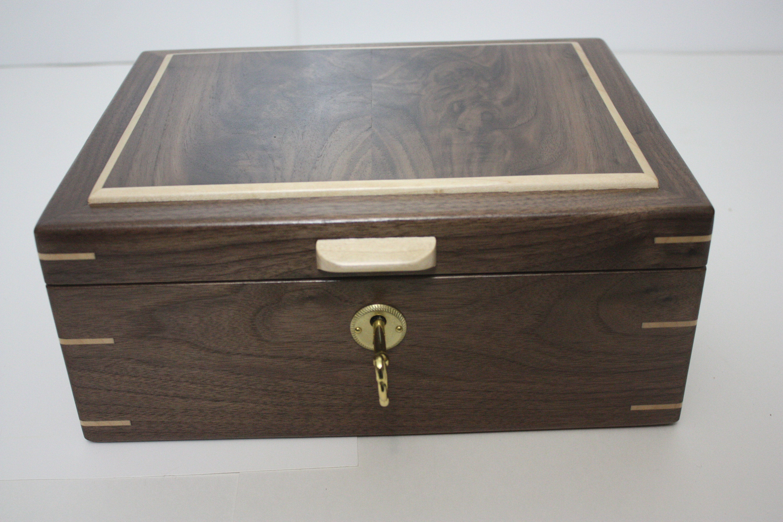 Locking Black Walnut Box