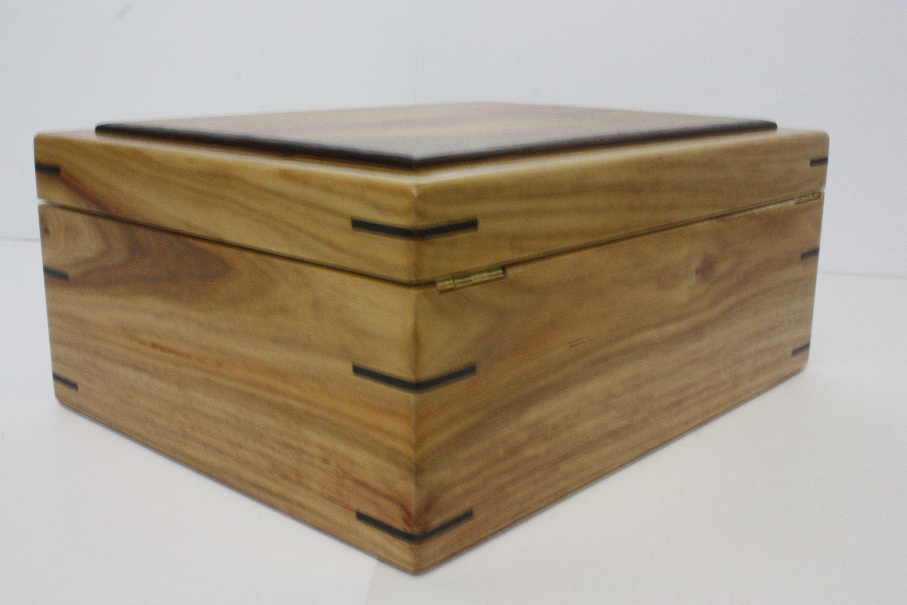 Canarywood Box with Hinged Lid