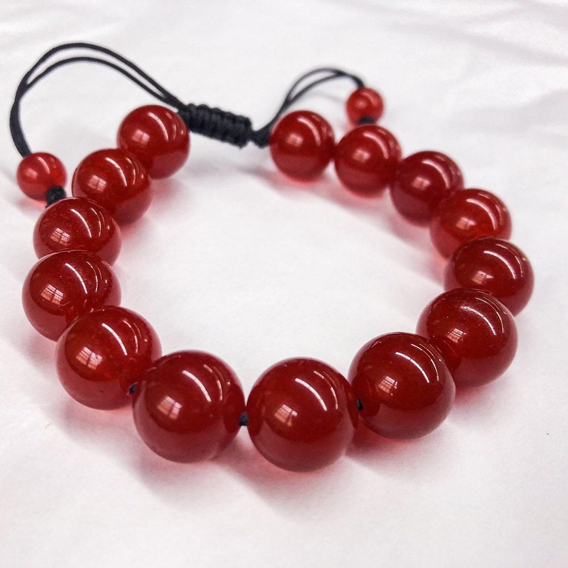 Red Jade bracelet/ shamballa bracelet/ jewelry for gift