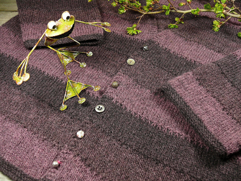 Pommernwolle Cardi pflanzengefärbt