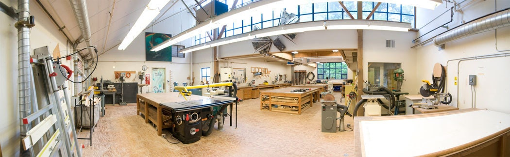 Clean woodworking shop