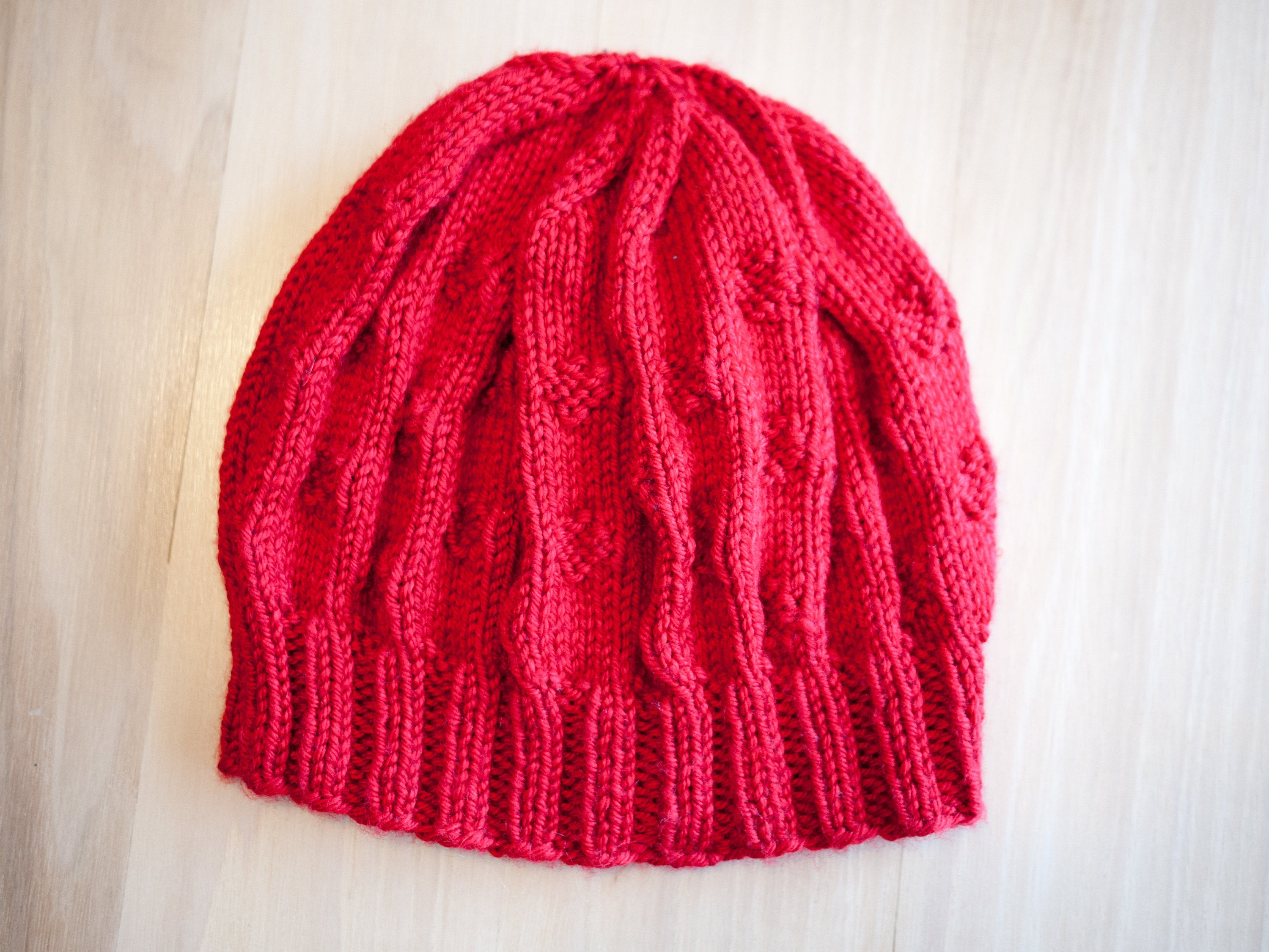 Finished knitted hat