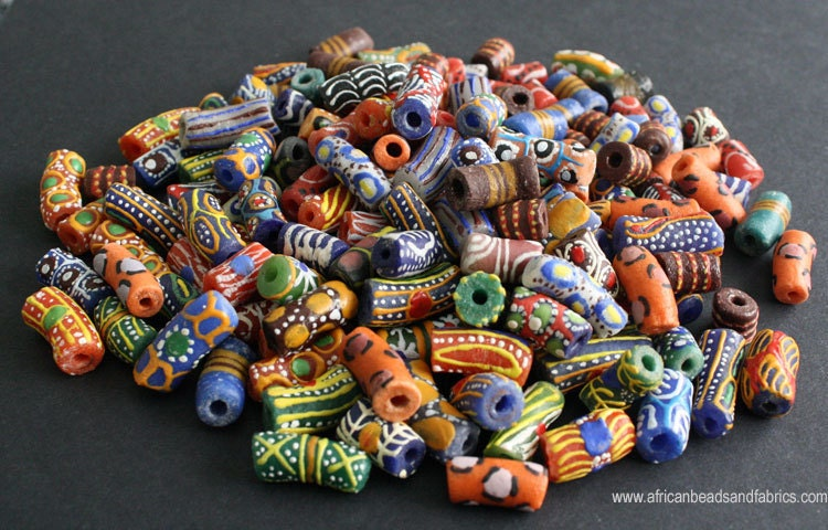 hand-painted glass beads