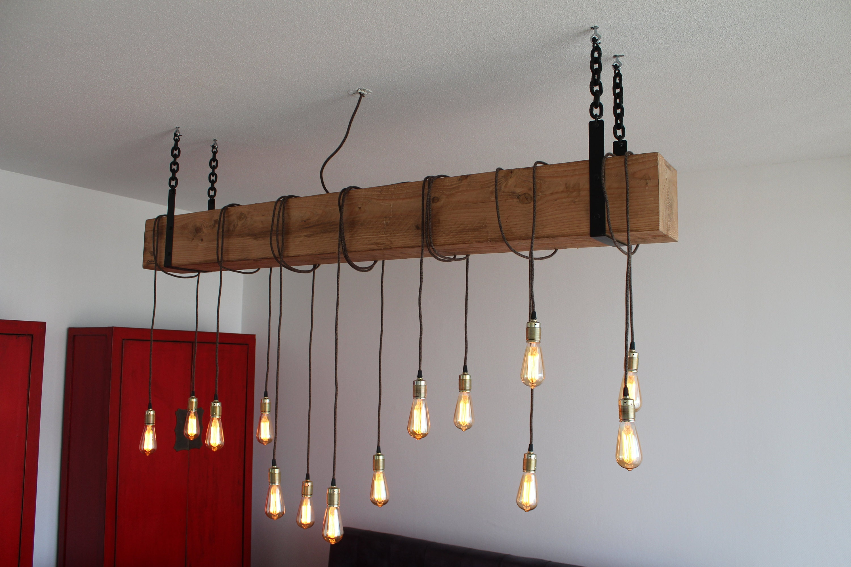 Hanglamp Hout Industrieel