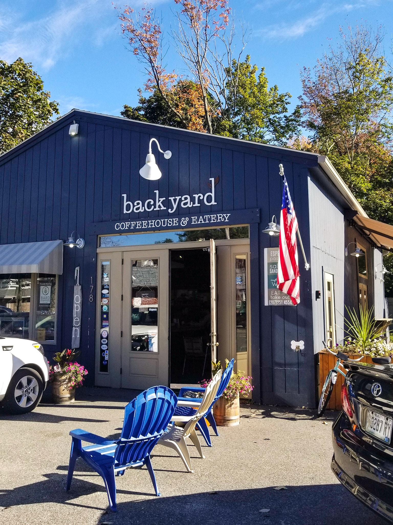 Backyard coffeehouse and eatery