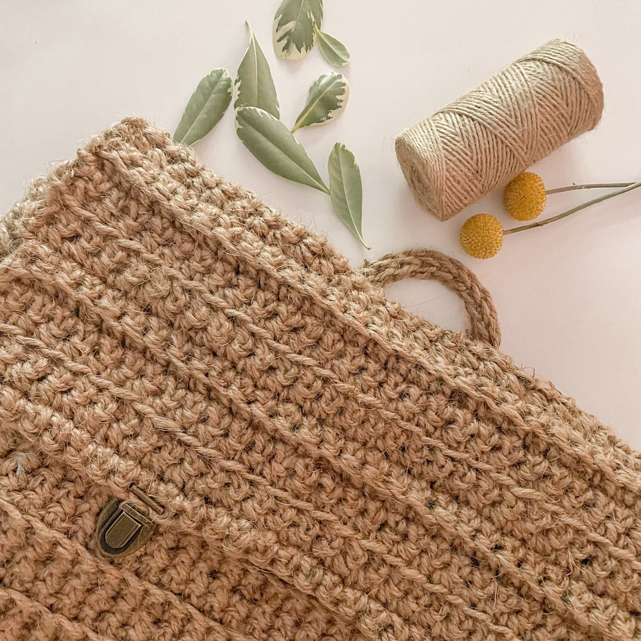 Natural Colored Crochet Backpack