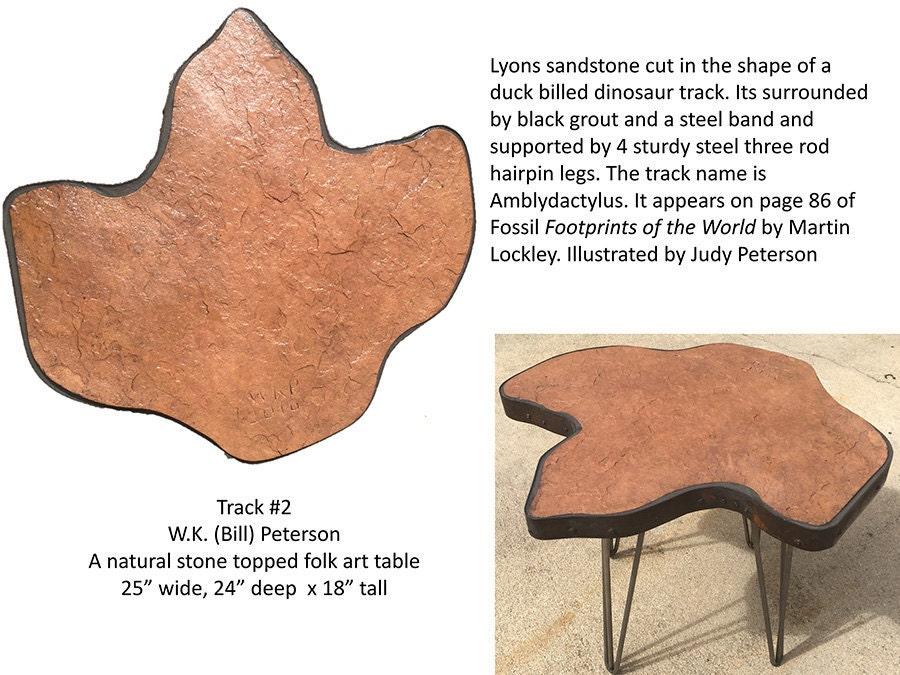 Dinosaur foot stool / coffee table