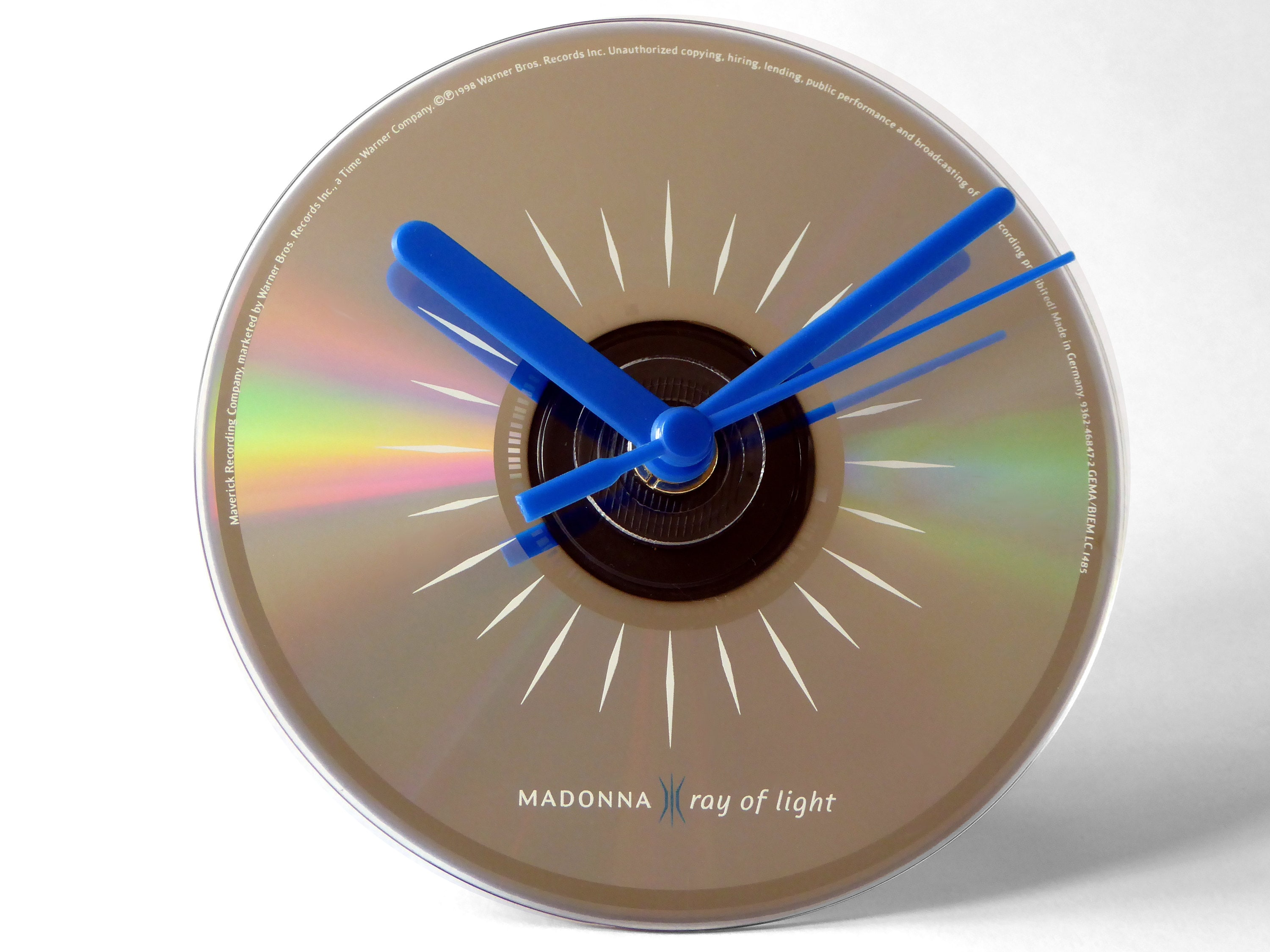 Madonna Ray Of Light CD Clock and Keyring Gift Set