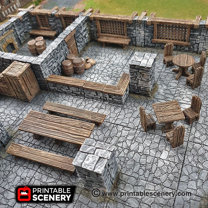 Simple furniture for taverns