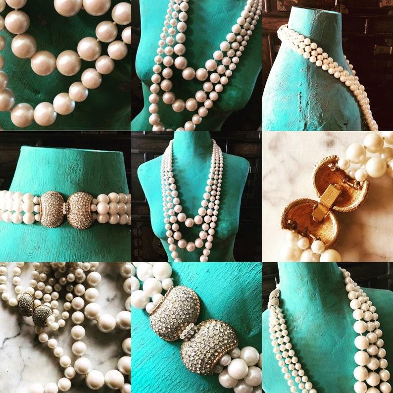 Vendome pearls, vintage pearls,