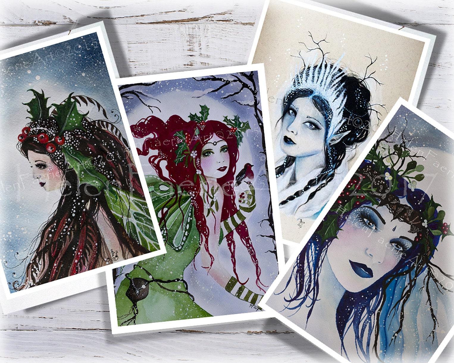 Helenfaerieart Yule Cards