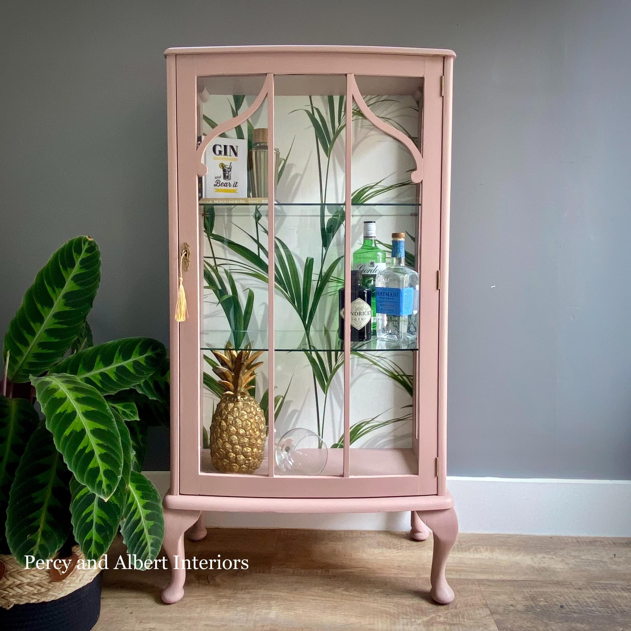 Pastel Pink Gin Cabinet