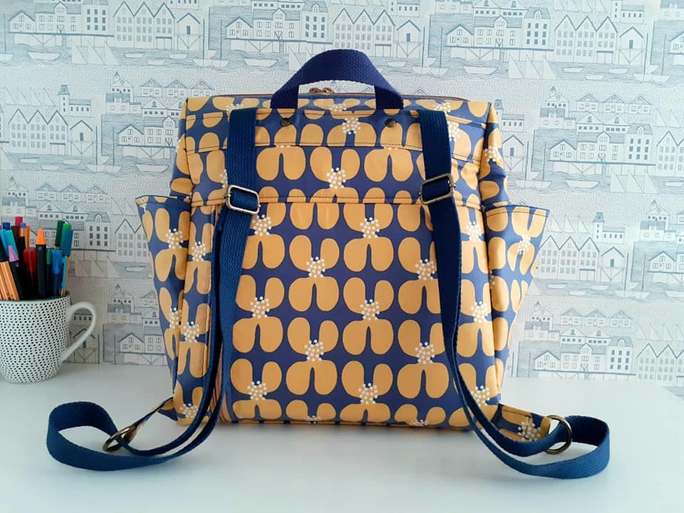 Fun Bobby Backpack Sincerely Jen Patterns Cloud 9 matte laminates