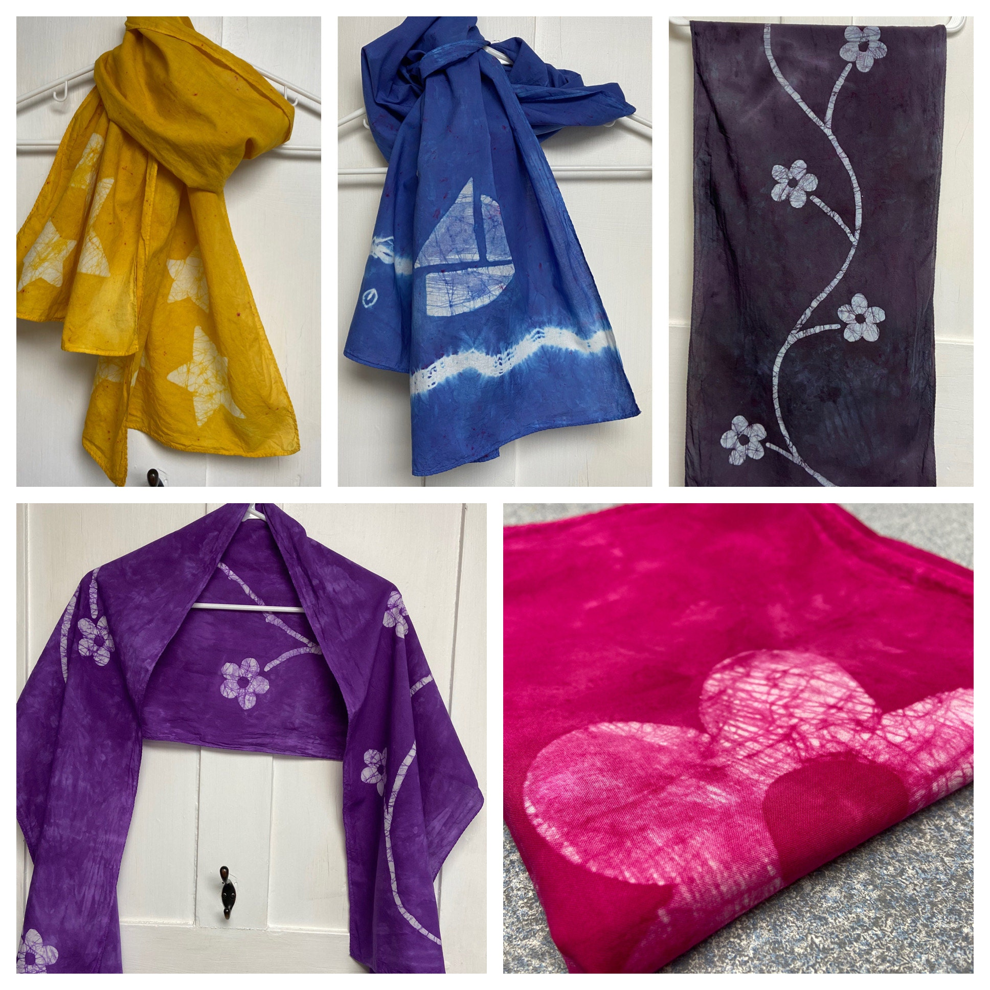Batik scarves by Peace, Baby! Batiks