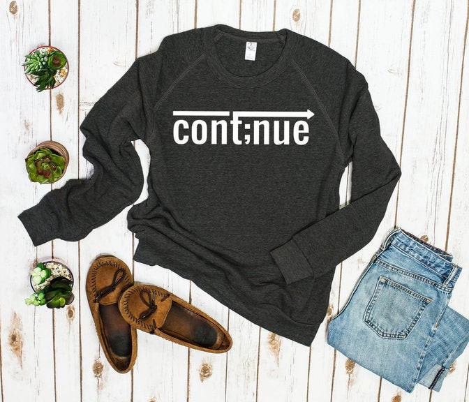 Continue Sweater, suicide awareness