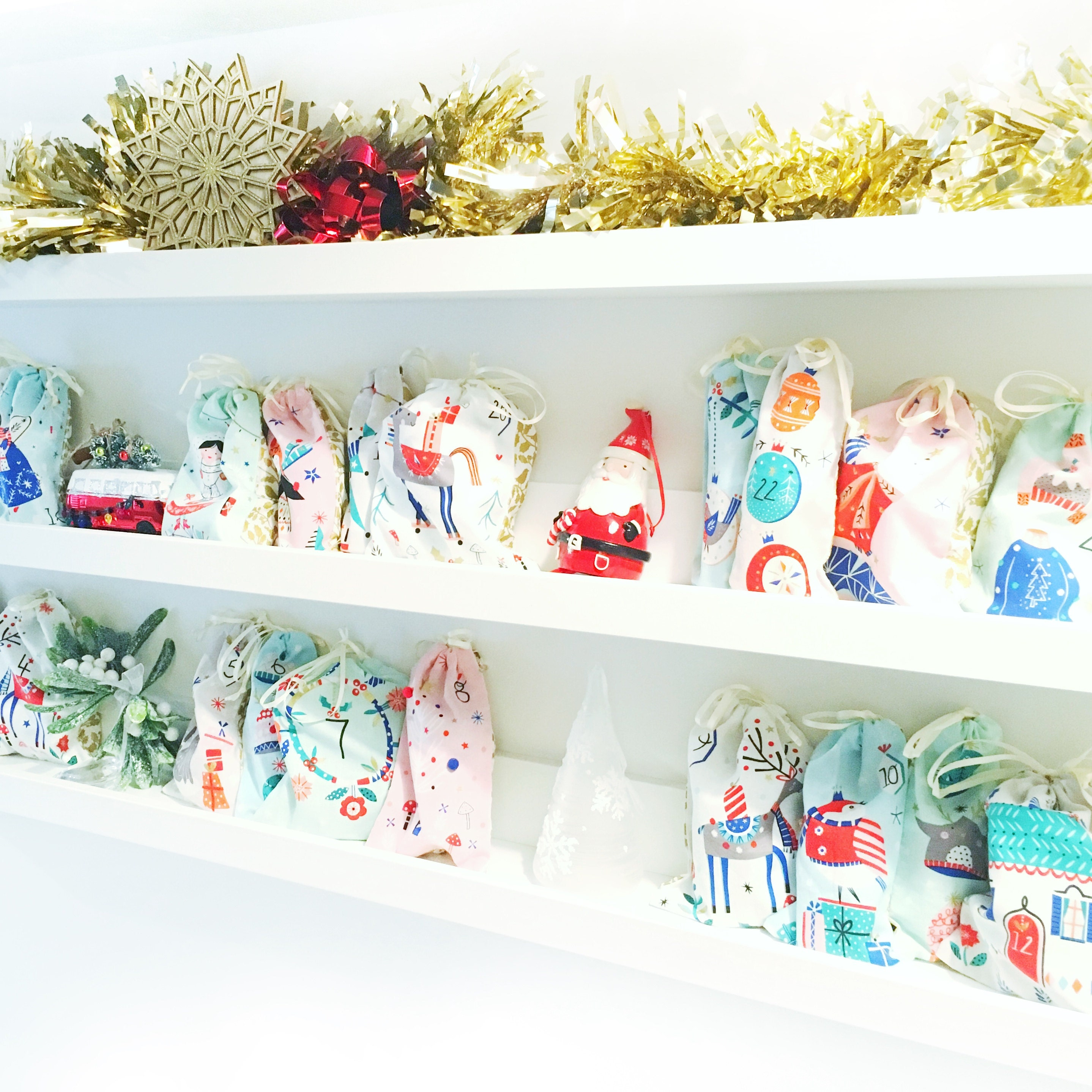 CHRISTMAS ADVENT CALENDAR FABRIC IDEAS