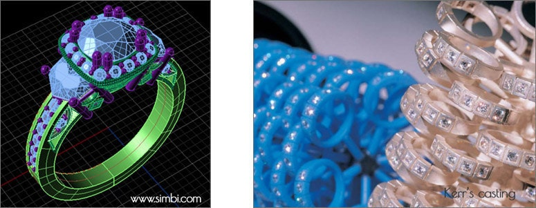 3D jewelry printing diseño joyería 3D